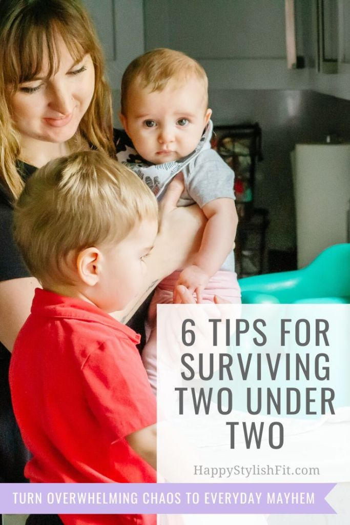 6 Tips to surviving two under two and turning overwhelming chaos into everyday mayhem.