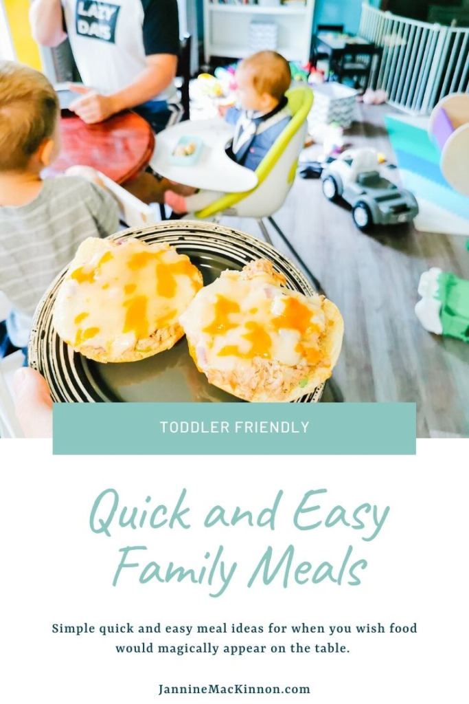 Quick and Easy Family Meals your toddler will actually eat.