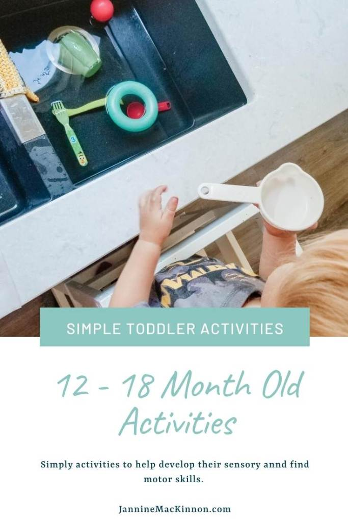 Toddler activities for 12 - 18 month olds. Help them work on their sensory and fine motor skills with these simple activities for one year olds.