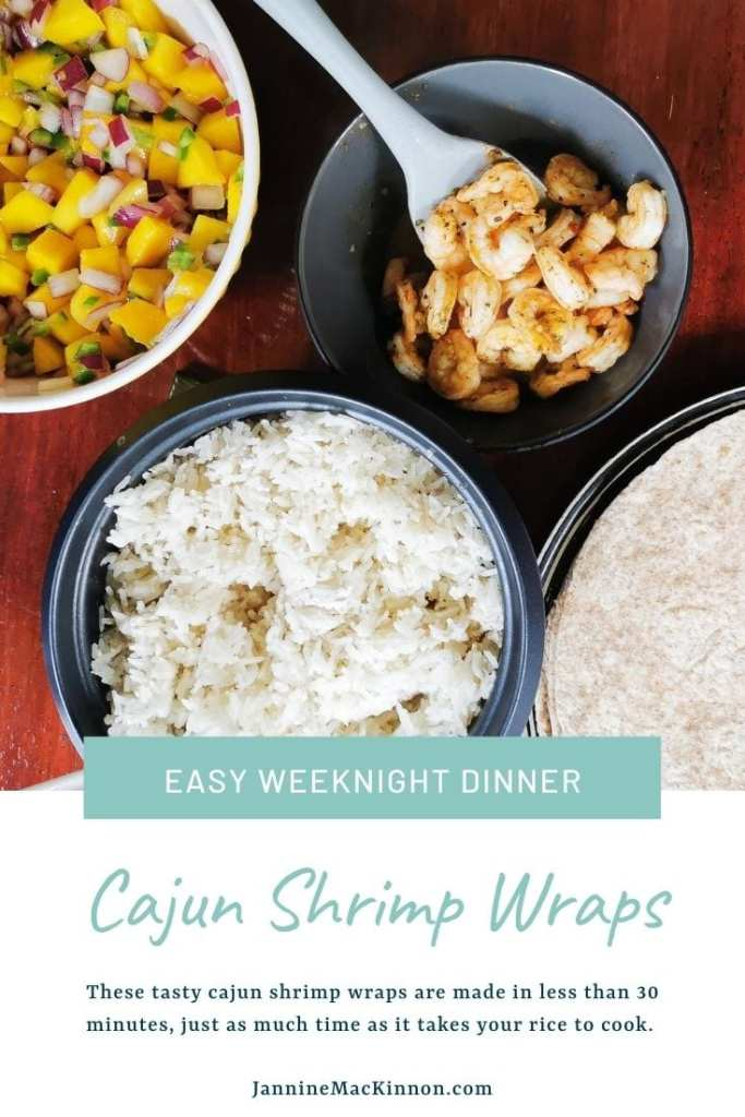 Tasty cajun shrimp wraps make a perfect easy family meal by being ready in 30 minutes or less.