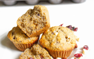 Recipe for healthy trail mix banana nut muffins