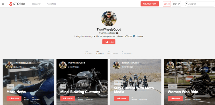 @TwoWheelsGood on Storia