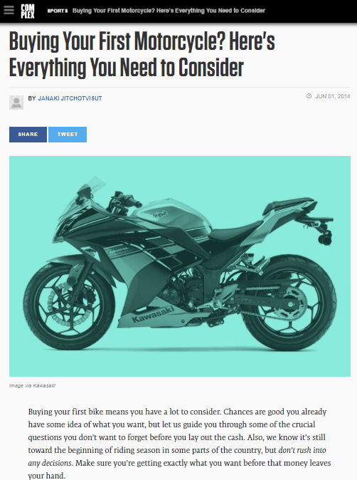 Buying Your First Motorcycle? Here's Everything You Need To Consider