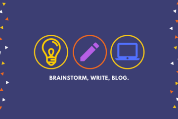 Brainstorm, write, blog.