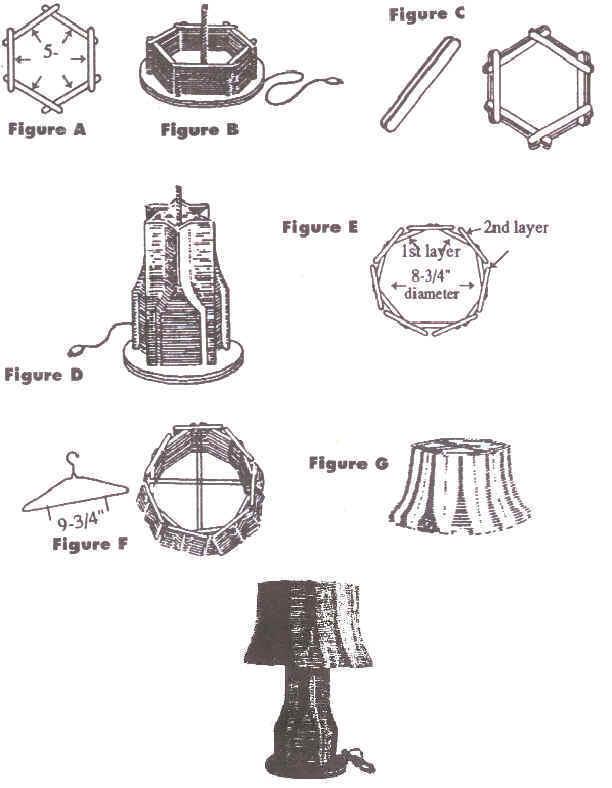 Popsicle Stick Lamp Pattern