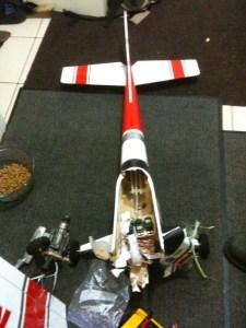 P's plane