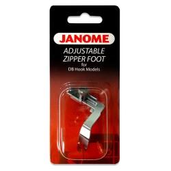 Janome Adjustable Zipper Foot for DB Hook Models
