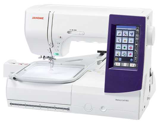 Janome MC9850 with the Embroidery Arm Attached