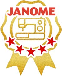 Awarded Janome's Most Trusted Dealership for Excellent Customer Service