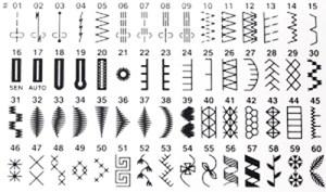 Janome JP760's Stitch Chart