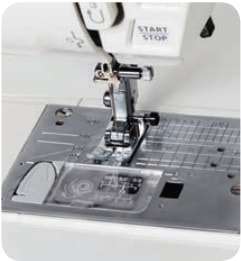 Closeup of the Needle Plate on the Janome DM7200
