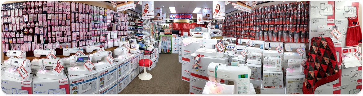 Inside Janome Sewing Centre