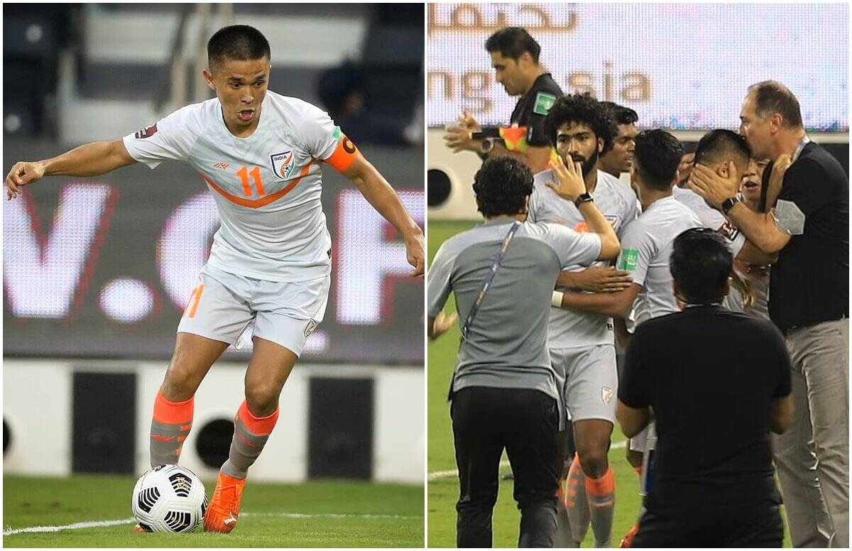 Sunil Chhetri scored 2 goals as India beat Bangladesh, won the FIFA World Cup qualifiers after 20 years abroad