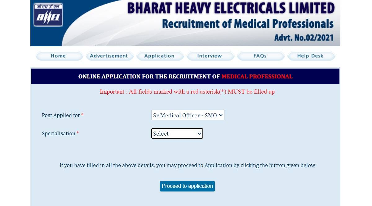 BHEL Recruitment 2021: Apply for Medical Officer Specialist posts at careers.bhel.in.  Check here for eligibility criteria and other details