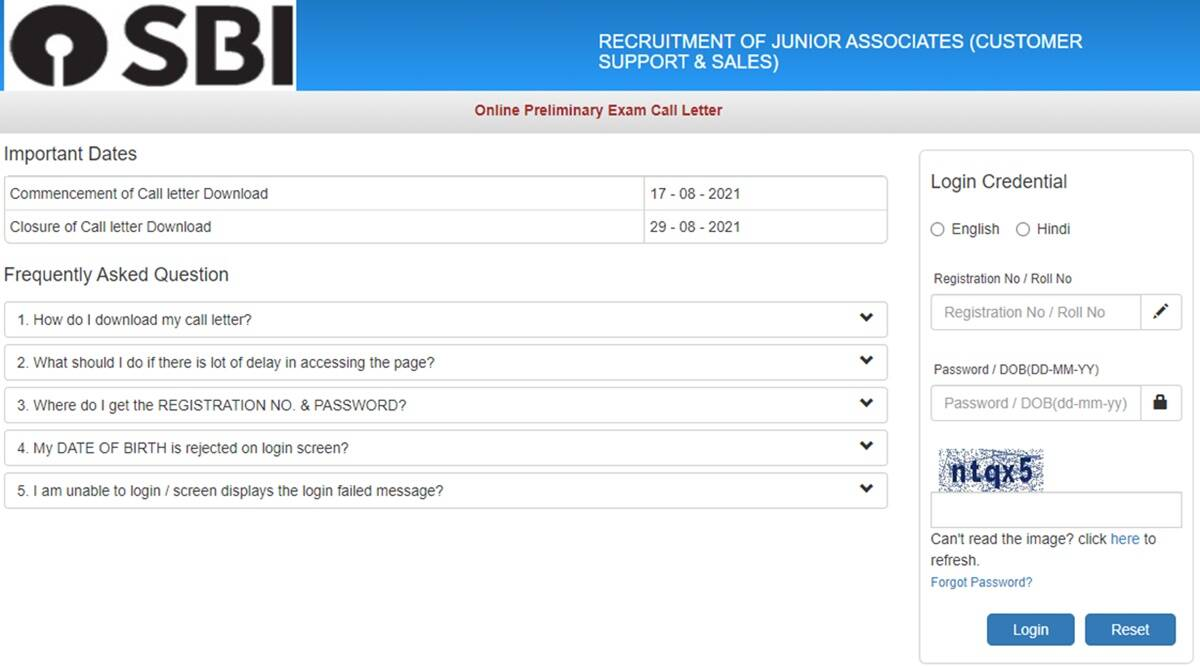 SBI Clerk 2021 Prelims Admit Card released on sbi.co.in, check here details, know how to download