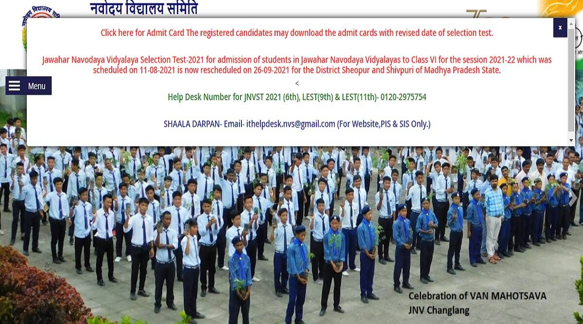 JNV Admission 2021: Navodaya Vidyalaya Class 6 Selection Test Rescheduled In Two Districts