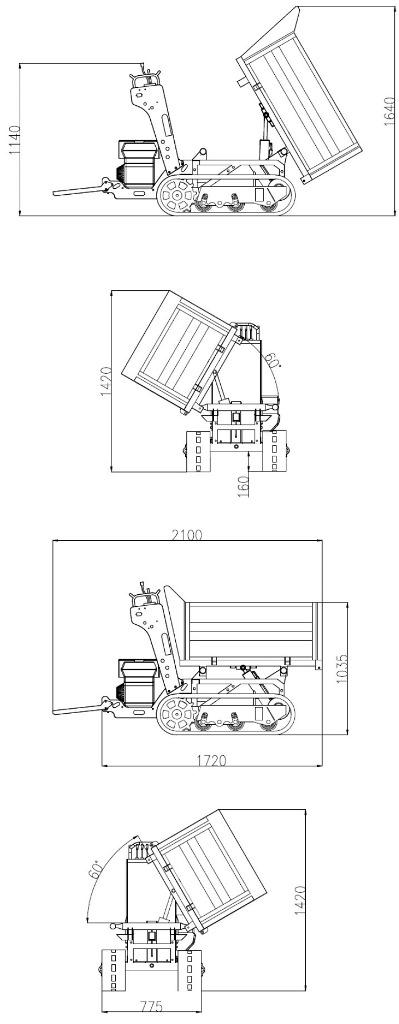 Minidumper dumper carretilla minitransporter oruga Jansen