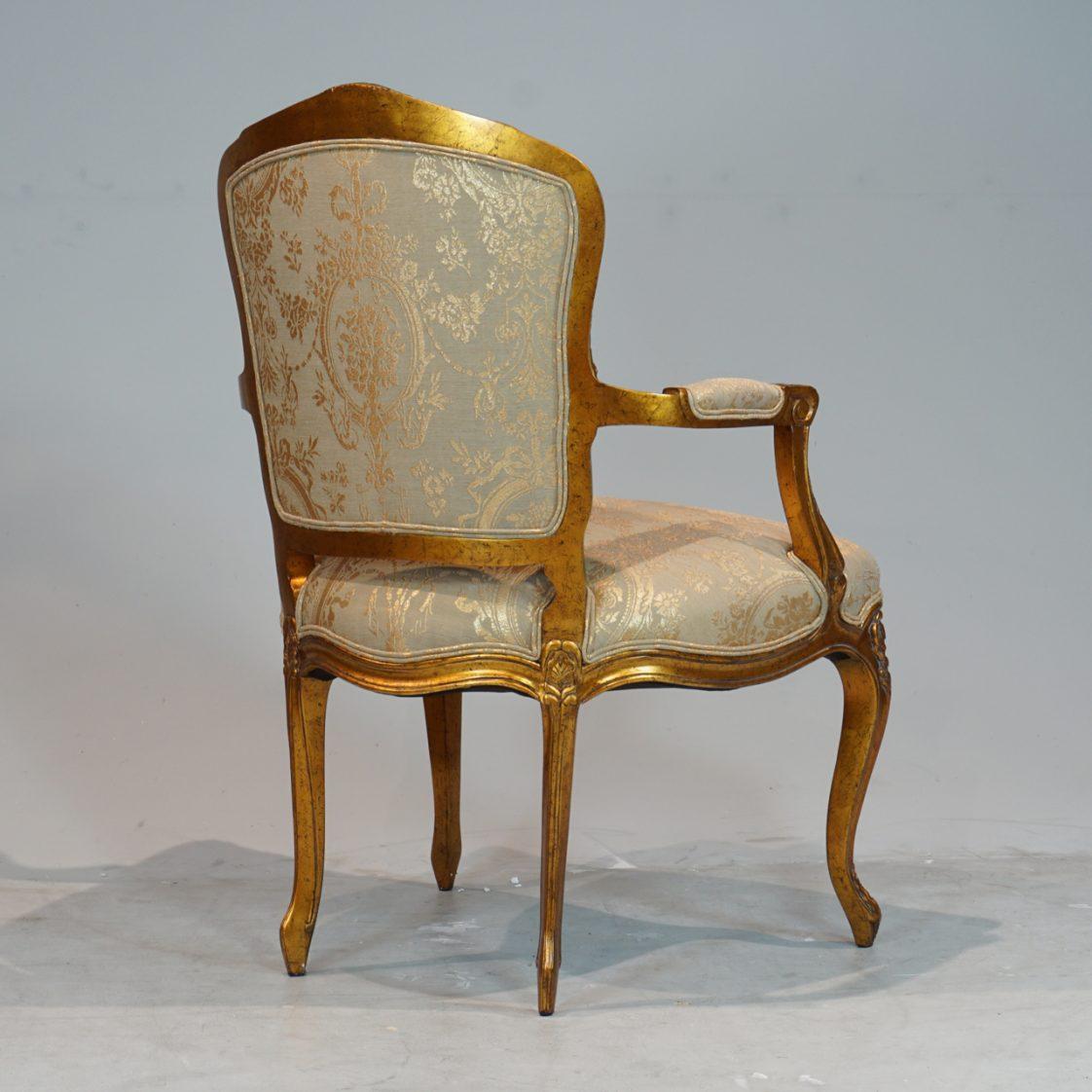 louis xv chair office desk mat for hardwood floor arm jansen furniture