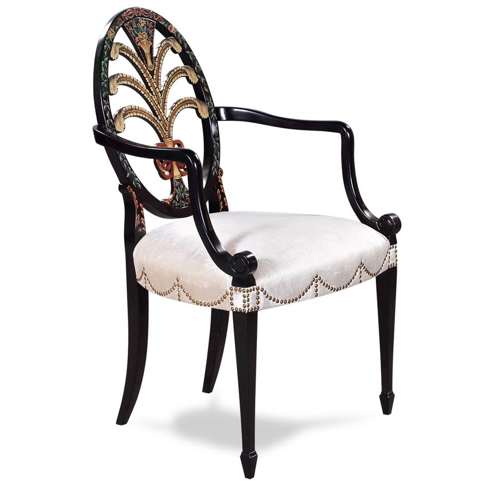 Arm Chair Hepplewhite Oval Back  Jansen Furniture