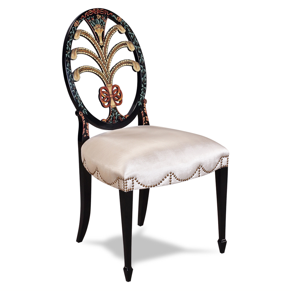 Side Chair Hepplewhite Oval Back  Jansen Furniture