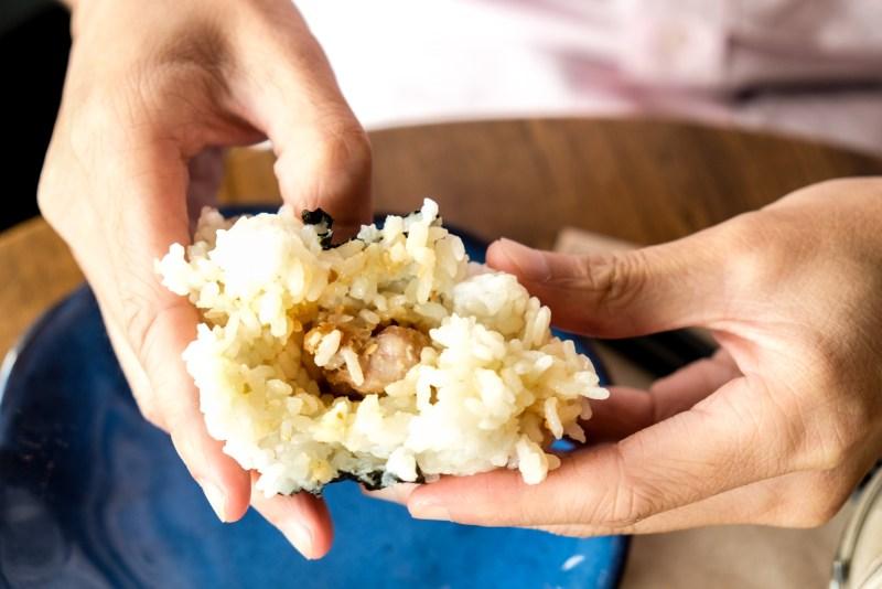 Chicken Karaage Onigiri from Dosanko Restaurant Vancouver