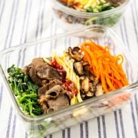 Simple Korean Bibimbap Bento Lunch Box Recipe