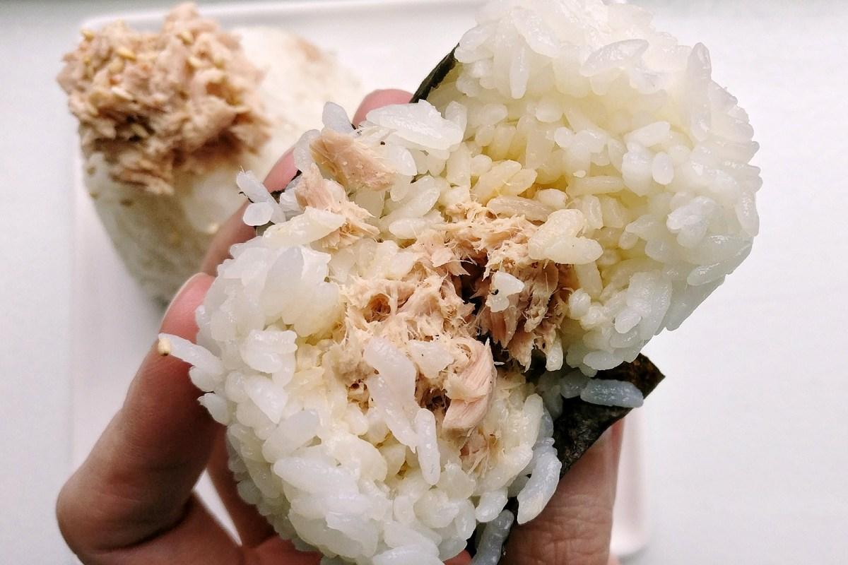 Tuna Onigiri Rice Ball Recipe - Shaping Onigiri by hand