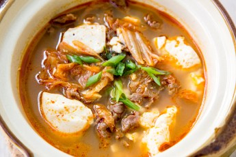 Korean Kimchi Tofu Soup with Beef Recipe