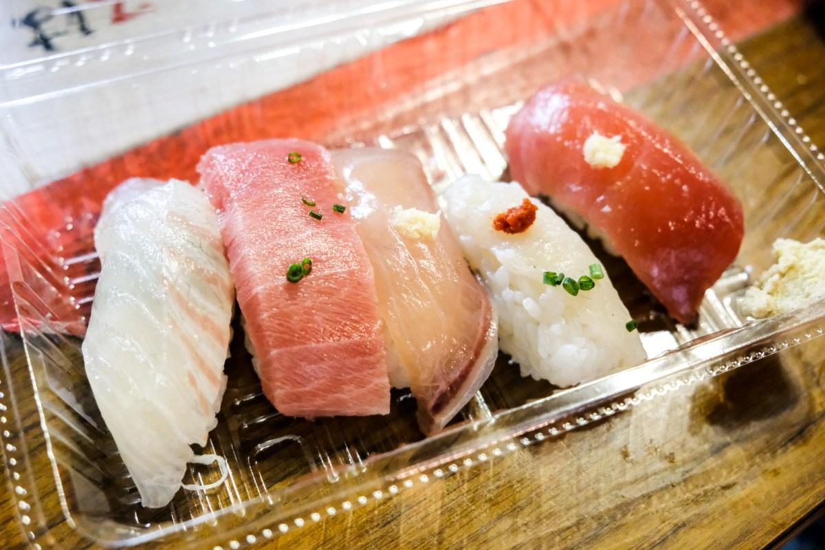 Nigiri Sushi from the Karato Market