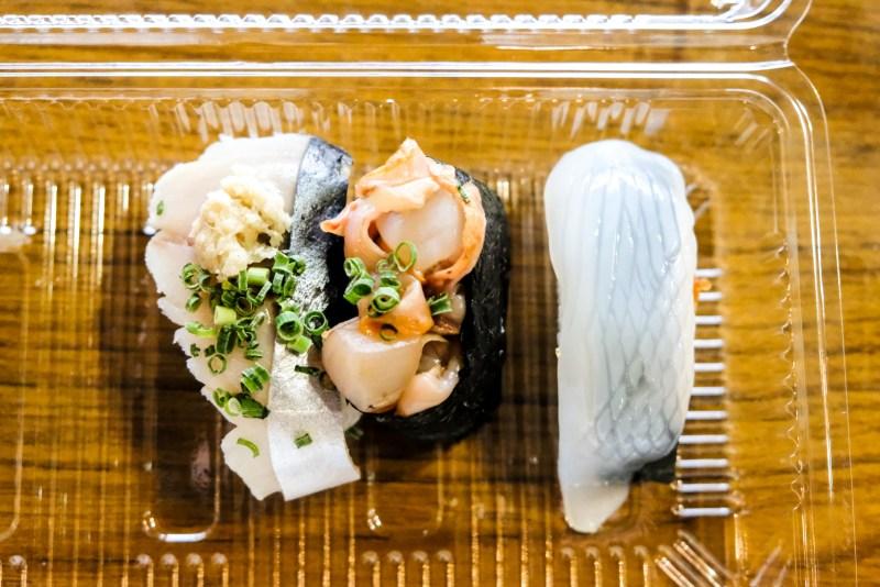 Nigiri sushi at Karato Market