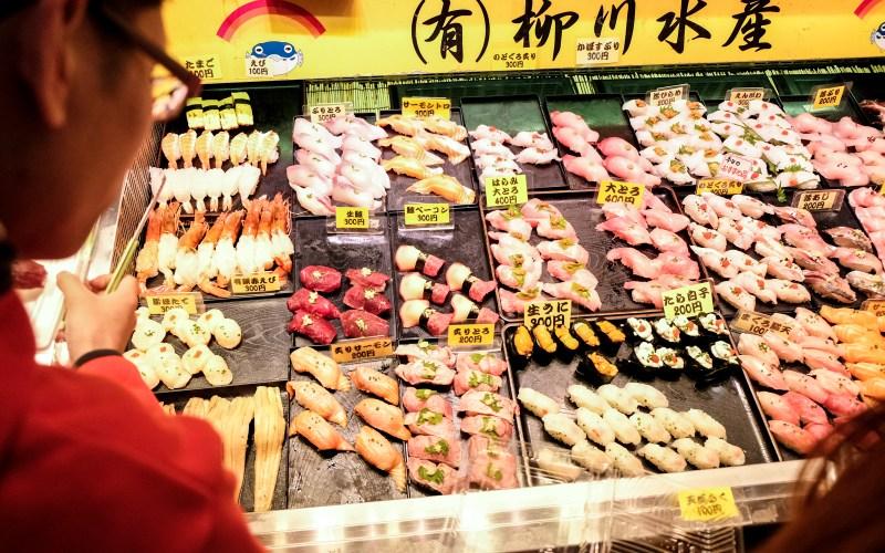 Eat Sushi in Karato Market in Shimonoseki
