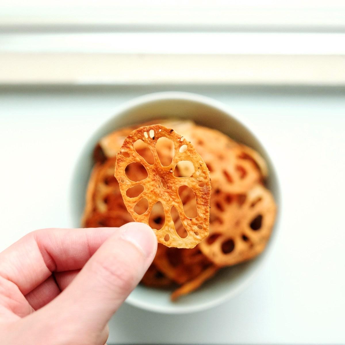 Baked Lotus Root Chips Recipe