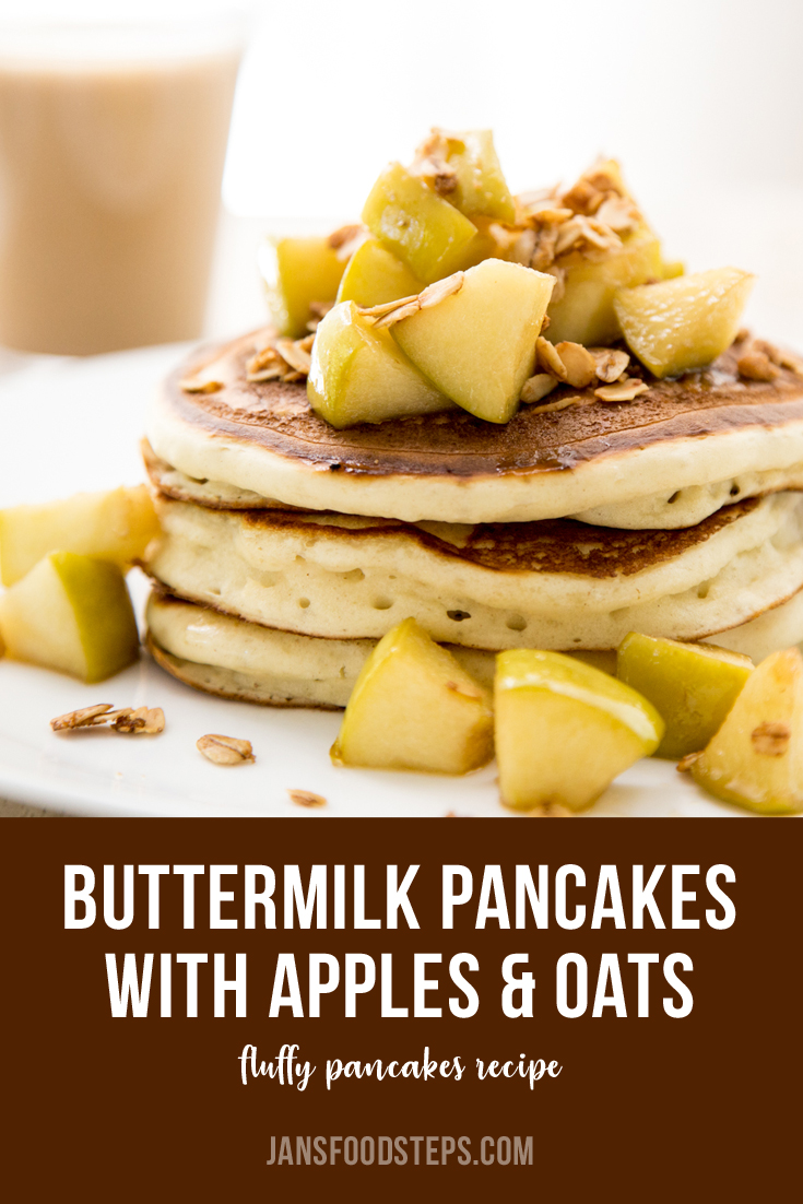 Buttermilk Pancakes with Apples and Crispy Oats Recipe