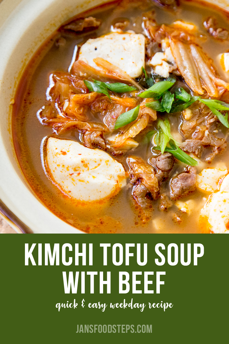 Kimchi Tofu Soup with Beef Recipe