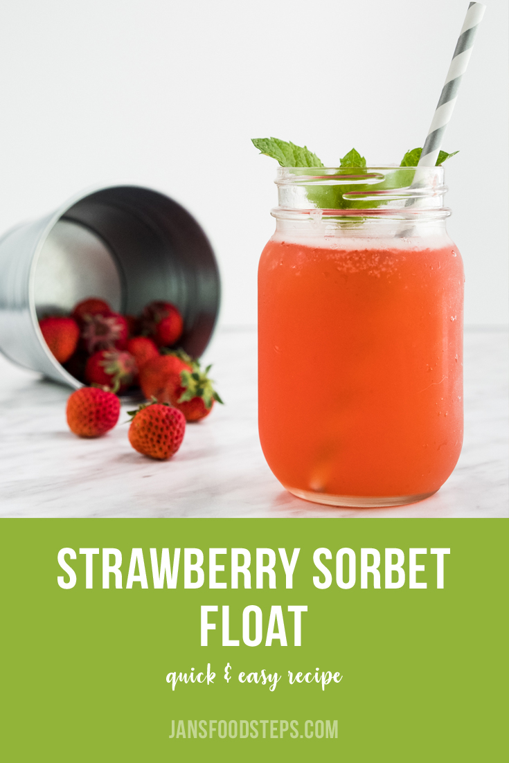 How to make Strawberry Sorbet Float Recipe