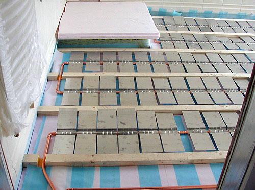 Holzdielenboden und Fubodenheizung Fubodenheizung und