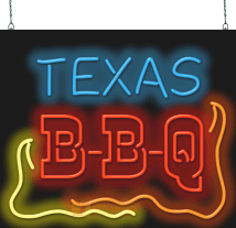 Neon Signs Texas Barbeque
