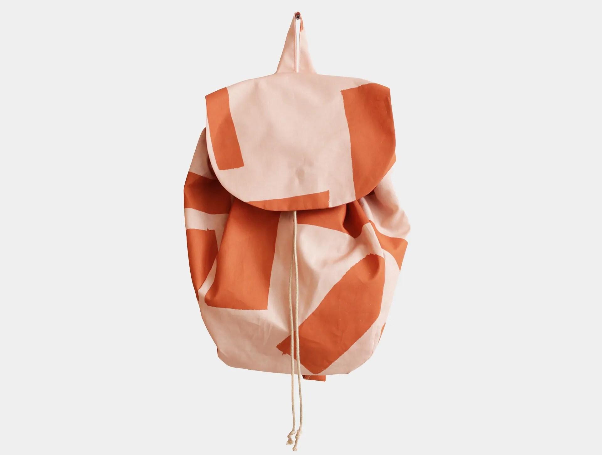 Rugzakje roze  roest  Jantien Baas  Textile Designer