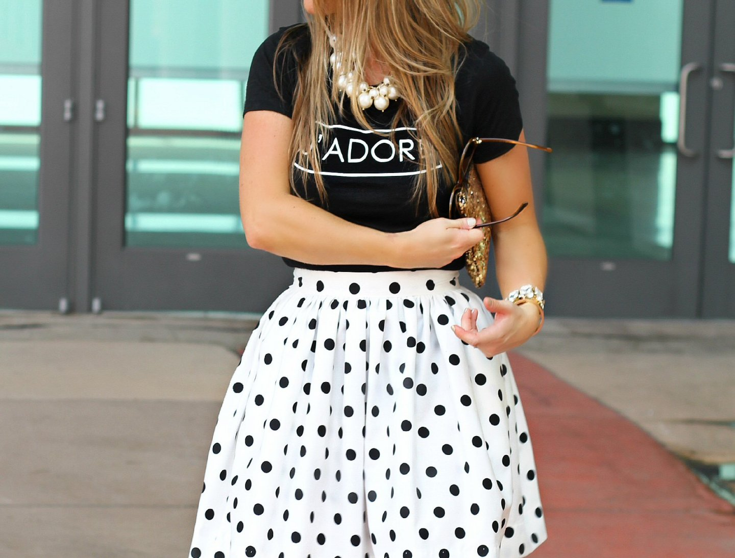 Polka dots and graphic tees