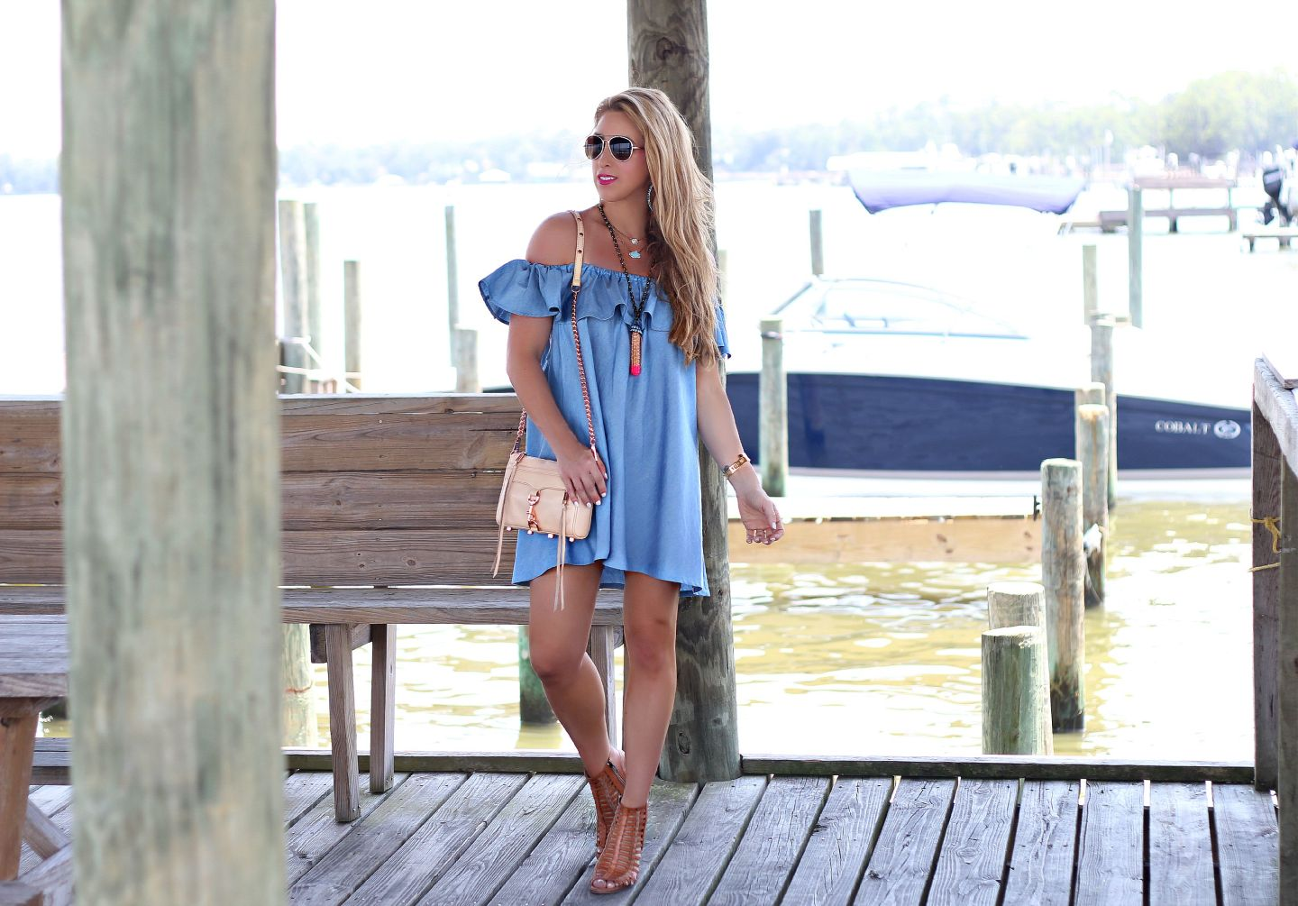 Chambray Off the Shoulder