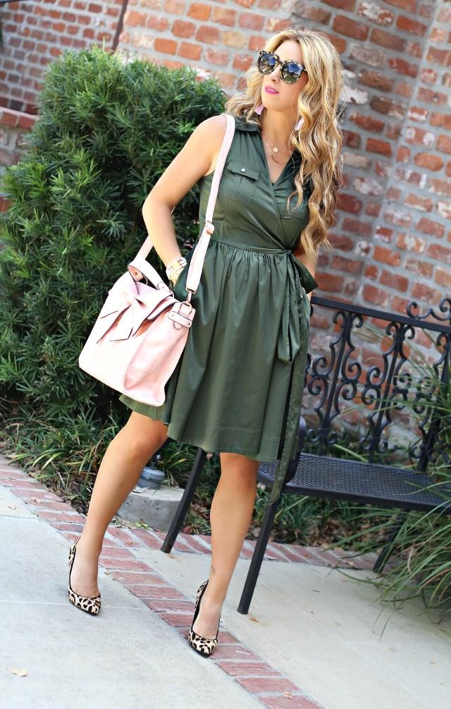 olive wrap dress 3