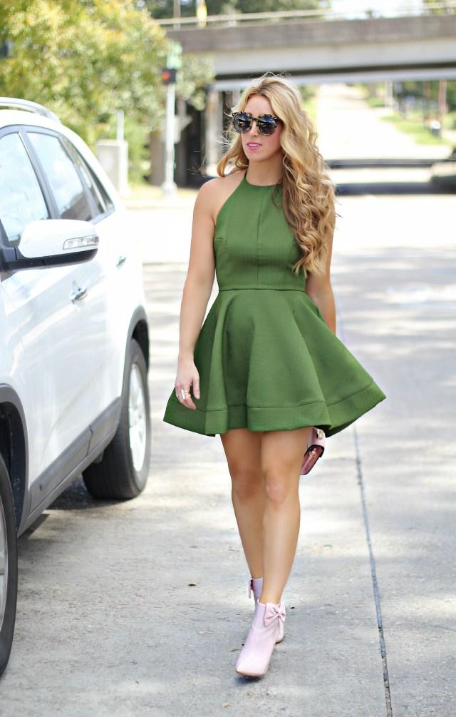 olive halter dress 5