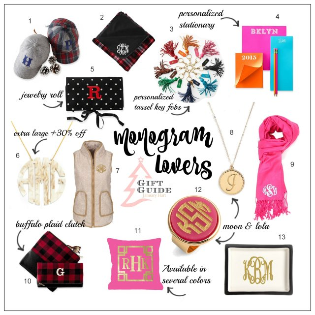 monogram lovers gift guide new