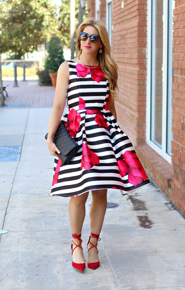 stripe floral dress 9
