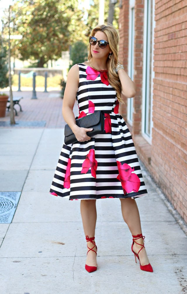 stripe floral dress 2