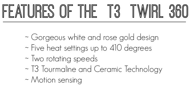 t3 twirl features
