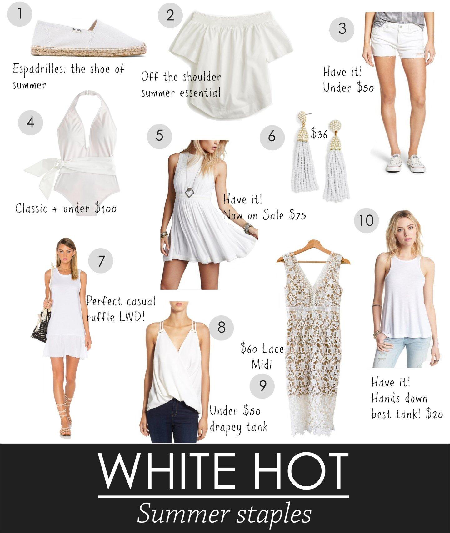 White Summer Staples