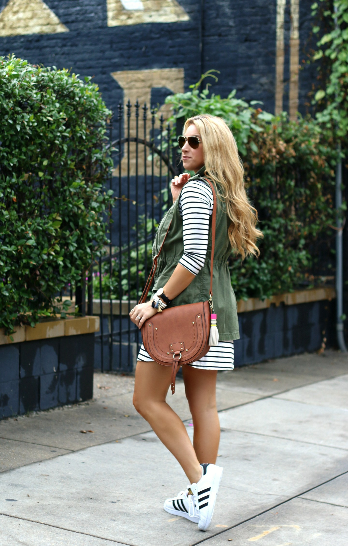The Striped Tee Shirt Dress