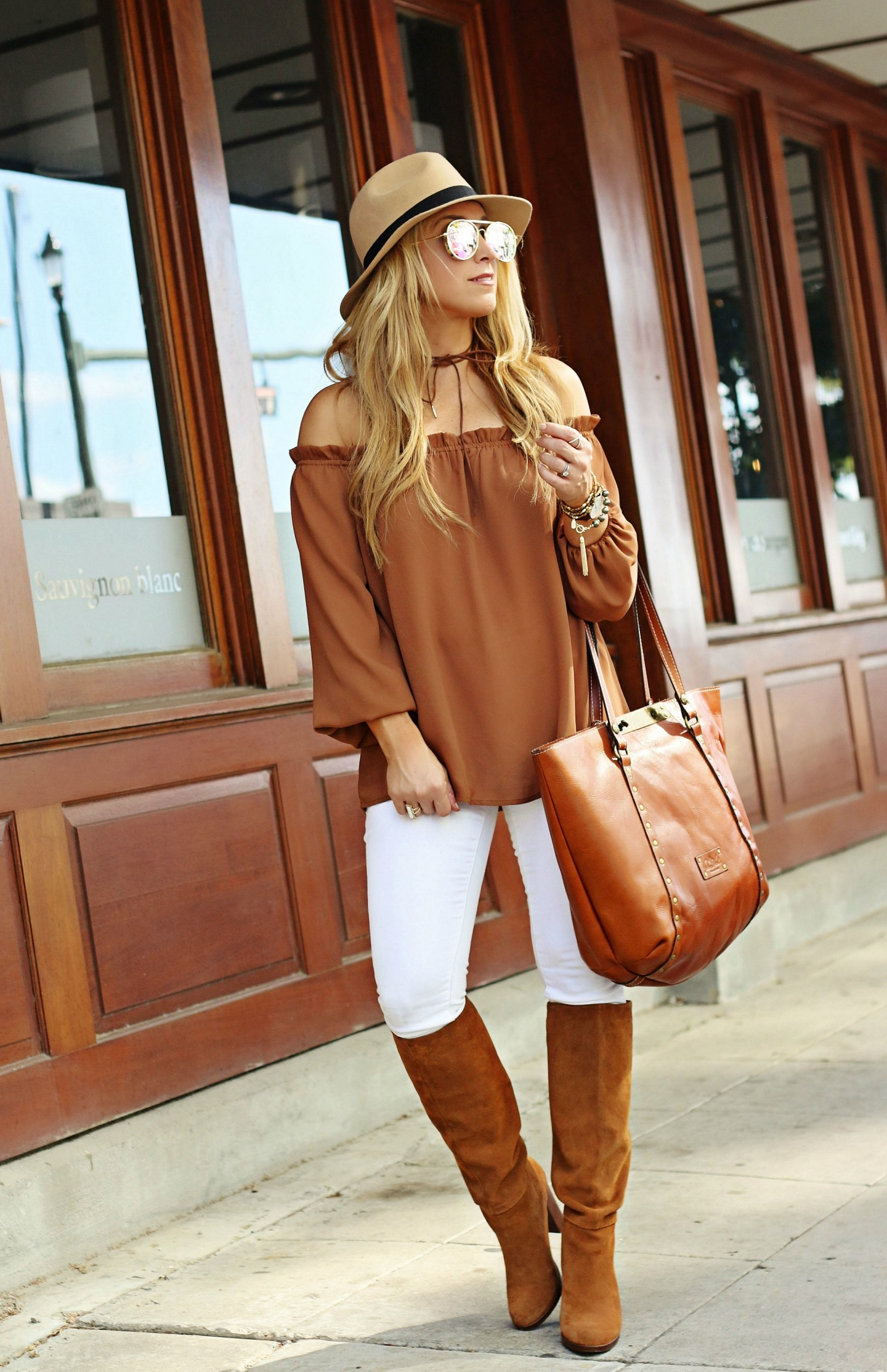 off the shoulder fall top