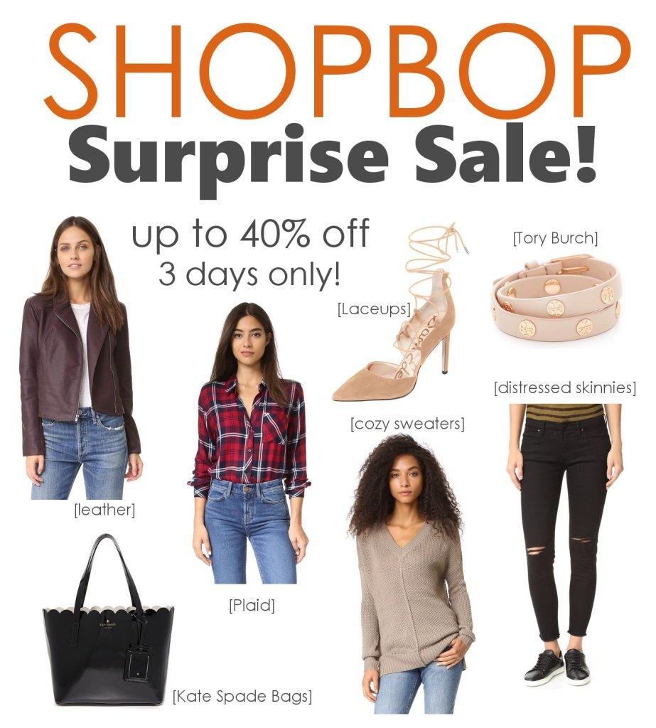 shopbop surprise sale 2016
